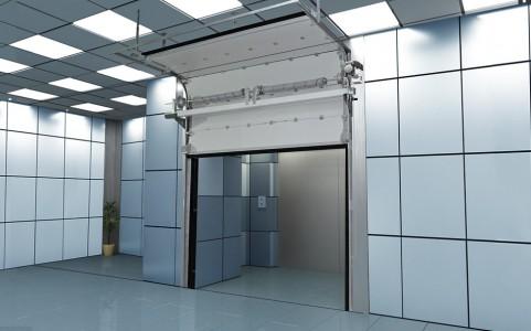 Противопожарные секционные ворота ISD FP EL 60 ширина 2000 высота 2900