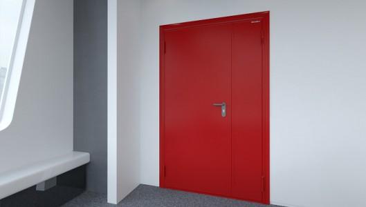 Дверь противопожарная реверсивная 800 х 2140 Classic RAL7035