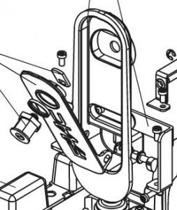 Механизм разблокировки для приводов откатных ворот FAAC 720 и 721