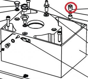Крепежная гайка статора для приводов откатных ворот FAAC 746, 844