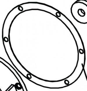 Прокладка фланца выходного вала для приводов откатных ворот FAAC 746, 844