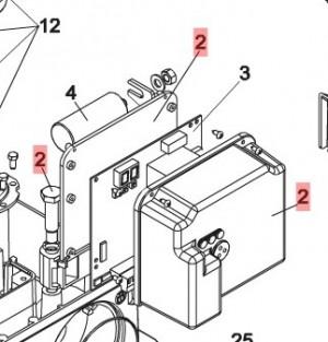 Кронштейн крепления платы управления для приводов откатных ворот FAAC 740 и 741