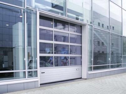 Панорамные стеклянные ворота ширина 2700 высота 2700
